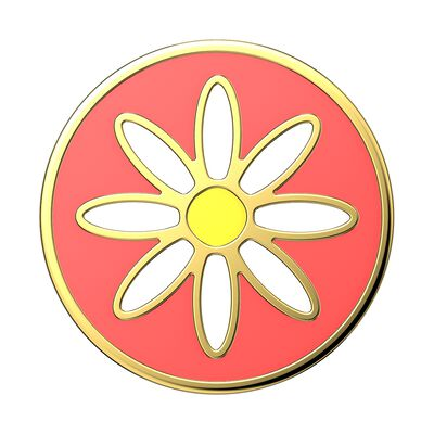 Enamel Quaint Daisy Coral