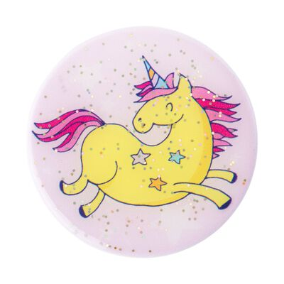 Glitter Jumping Unicorn Yellow