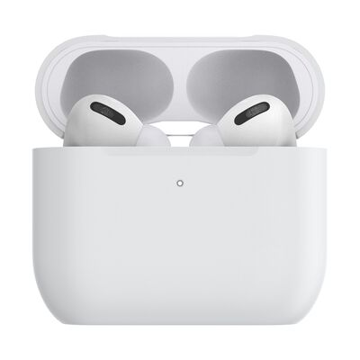 PopGrip AirPods Pro Holder White with Premium Gunmetal PopChain