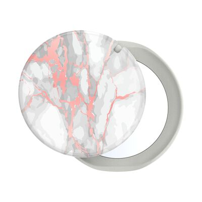 PopGrip Mirror Rose Gold Lutz Marble