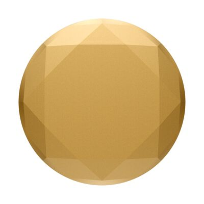 Metallic Diamond Medallion Gold
